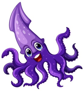 happy squid
