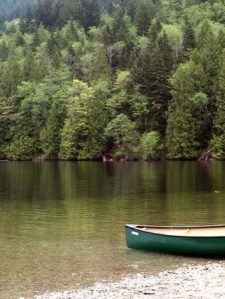 lake canoeing